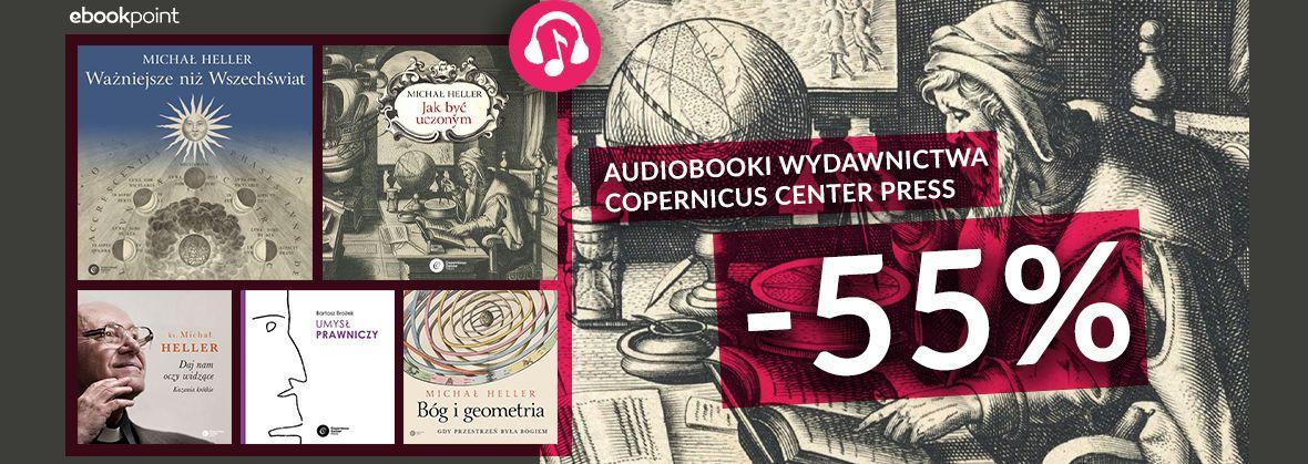 Promocja na ebooki Audiobooki Wydawnictwa Copernicus Center Press / -55%